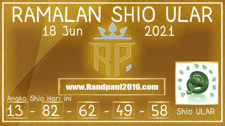 Ramalan Shio Ular Hari ini 18 Jun 2021