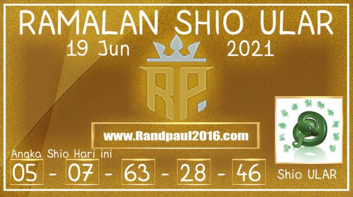 Ramalan Shio Ular Hari ini 19 Jun 2021