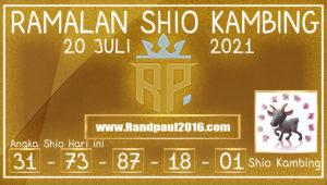 ramalan shio kambing 20 juli 2021