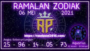 Ramalan Zodiak Aquarius Hari ini 06 Mei 2021