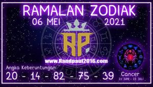 ramalan zodiak cancer hari ini 6 mei 2021