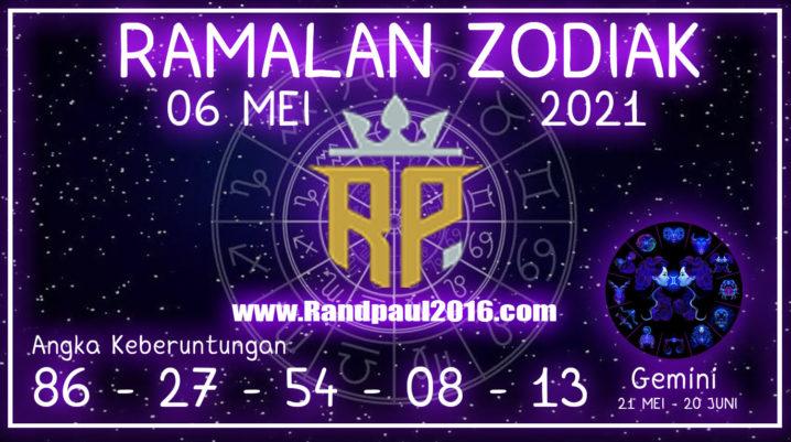 ramalan zodiak gemini hari ini 6 mei 2021