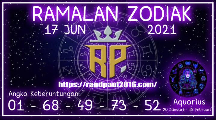 Ramalan Zodiak Aquarius Hari ini 17 Jun 2021