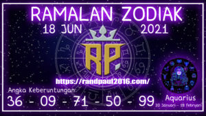 amalan Zodiak Aquarius Hari ini 18 Jun 2021