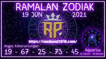 Ramalan Zodiak Aquarius Hari ini 19 Jun 2021