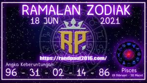 Ramalan Zodiak Pisces Hari ini 18 Jun 2021