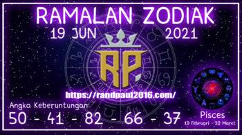 Ramalan Zodiak Pisces Hari ini 19 Jun 2021