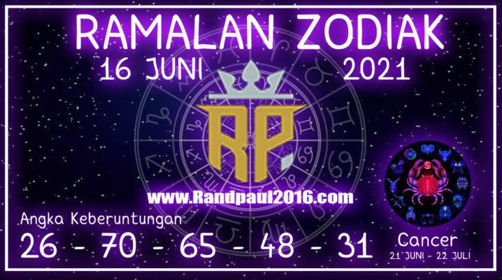ramalan zodiak cancer hari ini 16 juni 2021