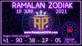 ramalan zodiak cancer hari ini 19 juni 2021