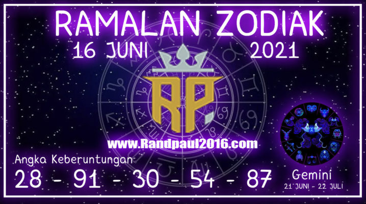 ramalan zodiak gemini hari ini 16 juni 2021