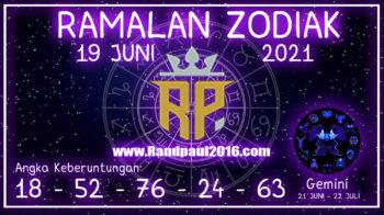 ramalan zodiak gemini hari ini 19 juni 2021