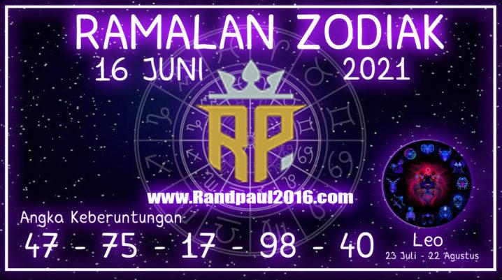 ramalan zodiak leo 16 juni 2021