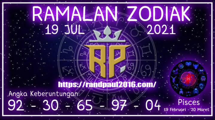 Ramalan Zodiak Pisces Hari ini 19 Jul 2021