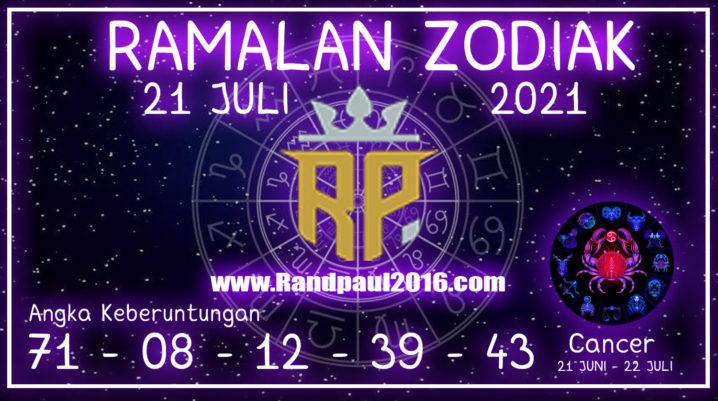 ramalan zodiak cancer hari ini 21 juli 2021