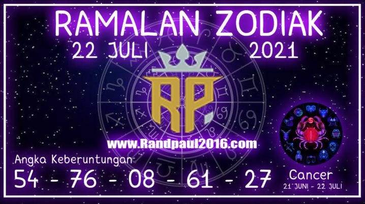 ramalan zodiak cancer hari ini 22 juli 2021