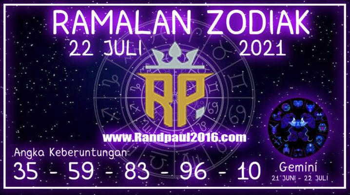ramalan zodiak gemini hari ini 22 juli 2021