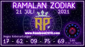 ramalan zodiak leo 21 juli 2021