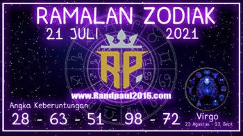 ramalan zodiak virgo 21 juli 2021